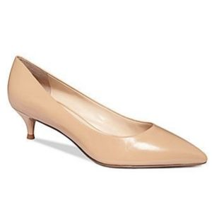 Nine West // Illumie Kitten Heel Pumps Nude Heels